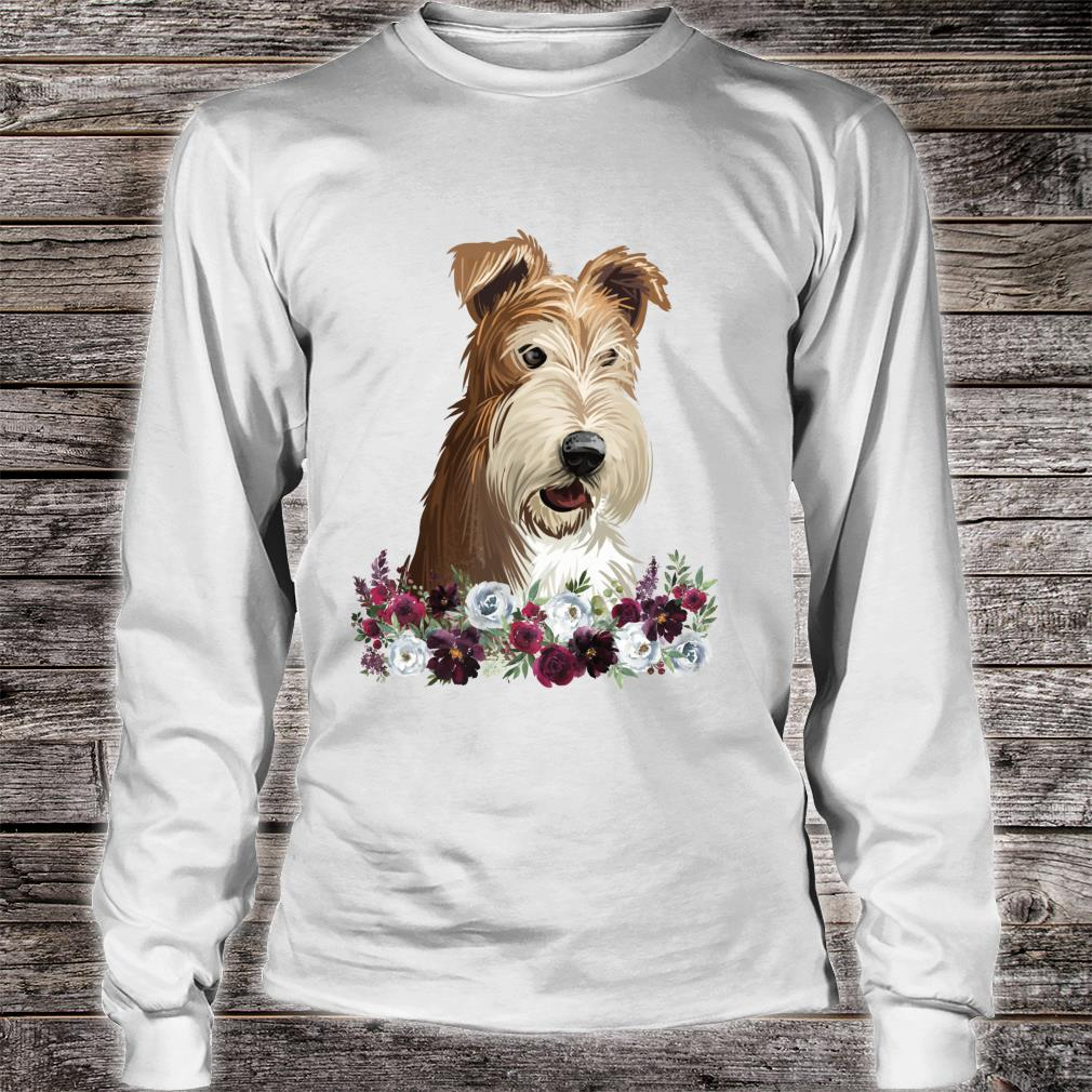 Wire Fox Terrier Dog Floral Shirt long sleeved