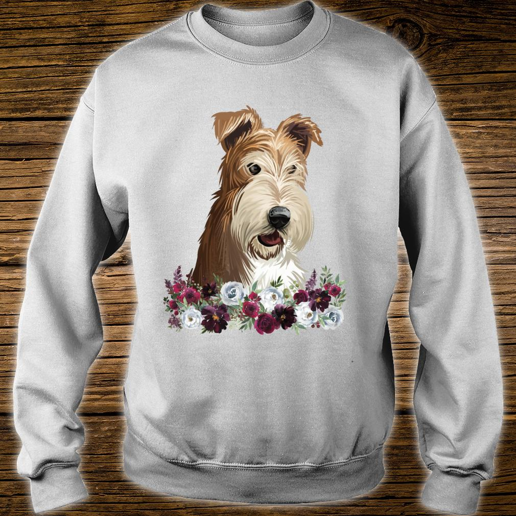 Wire Fox Terrier Dog Floral Shirt sweater