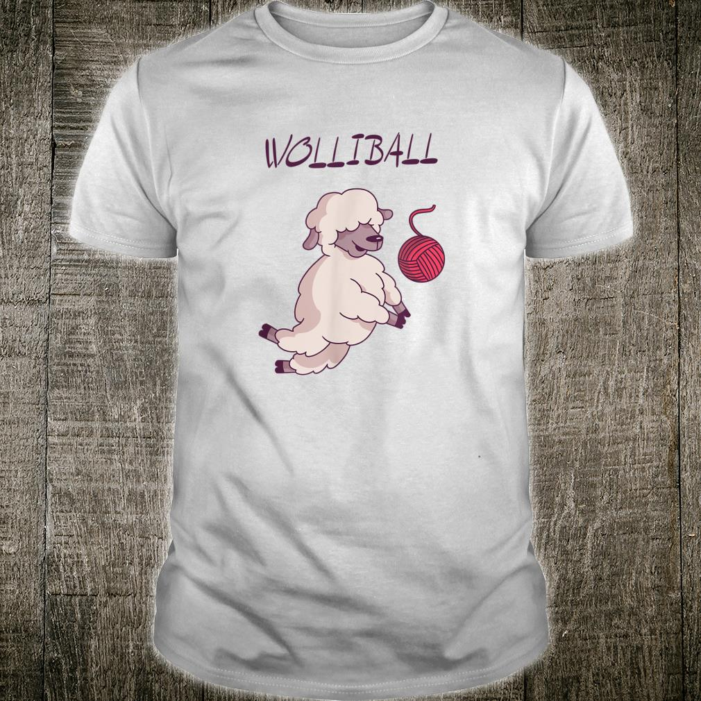Wolliball Volleyball Schaf Wortspiel Fun Shirt