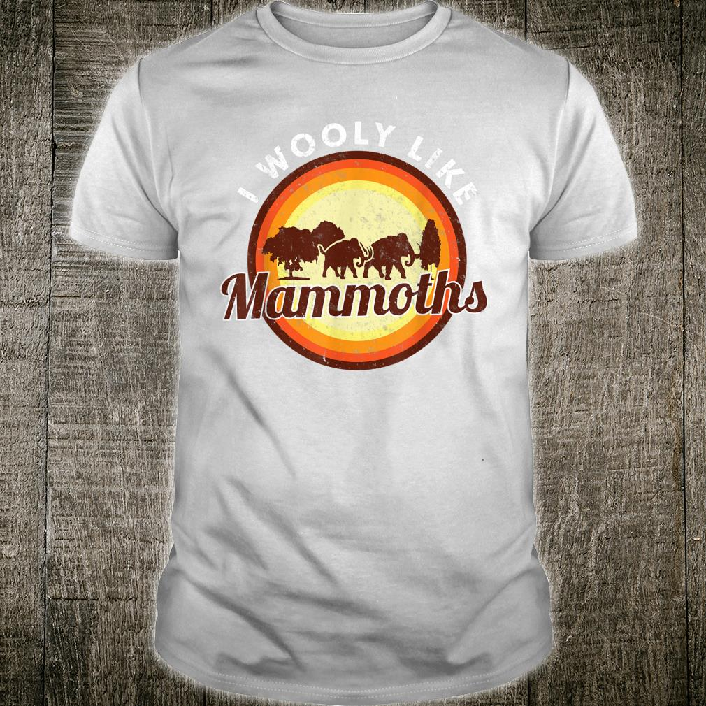 Wooly Mammoth Extinct Elephant Animal I Mammoth Shirt