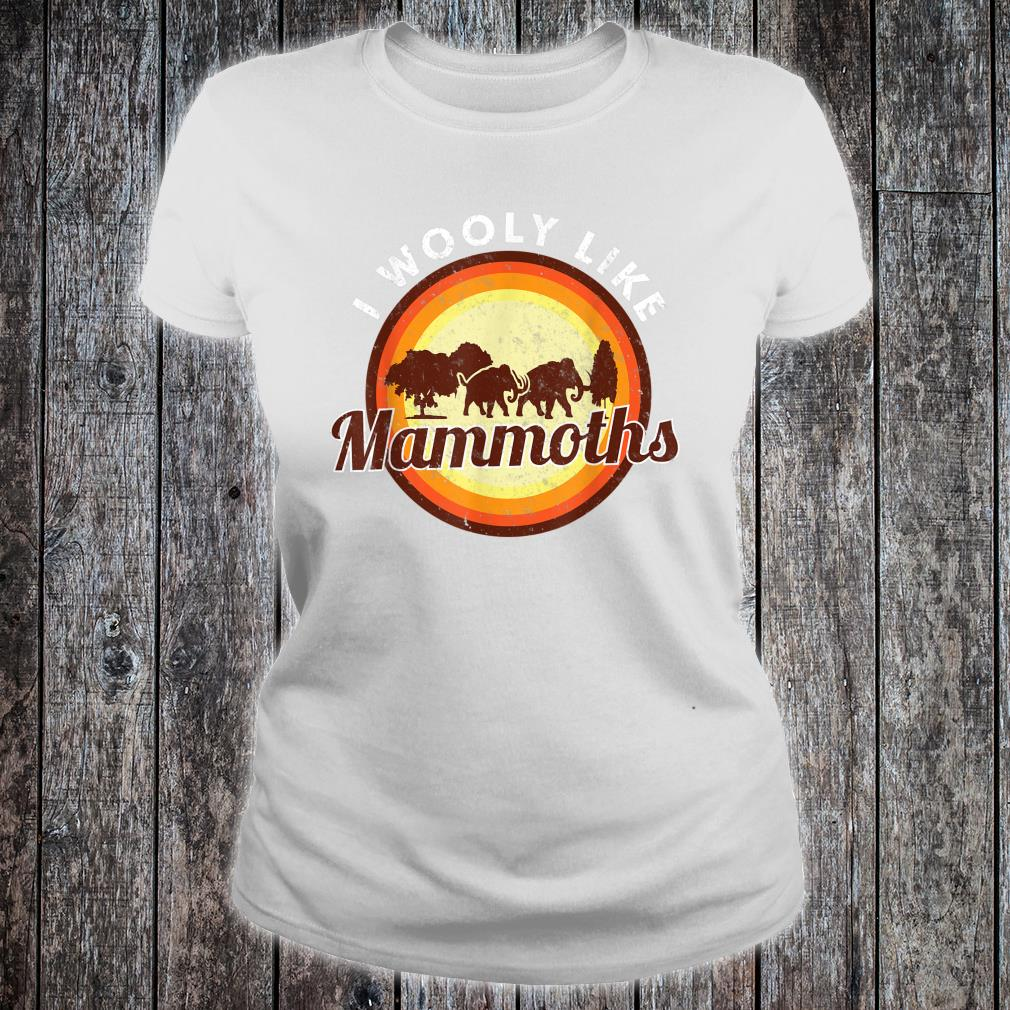 Wooly Mammoth Extinct Elephant Animal I Mammoth Shirt ladies tee