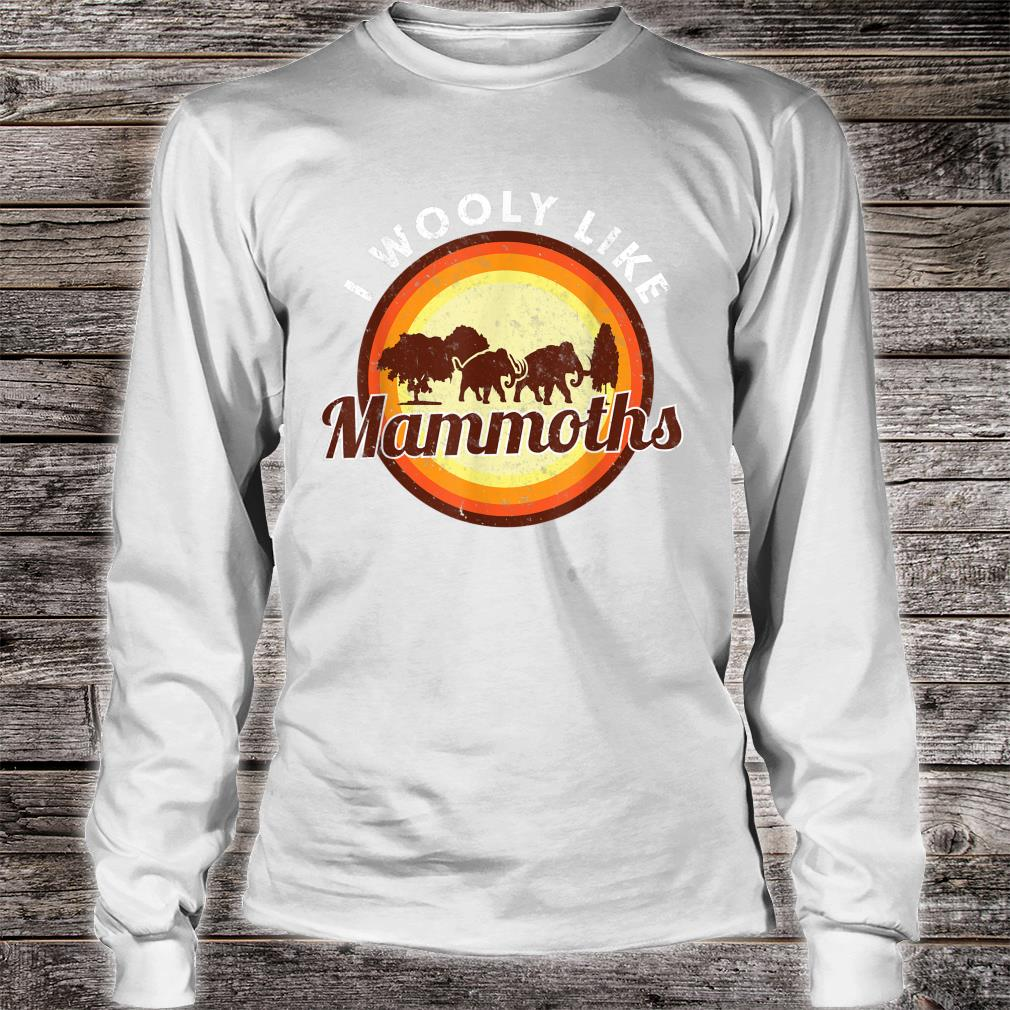 Wooly Mammoth Extinct Elephant Animal I Mammoth Shirt long sleeved
