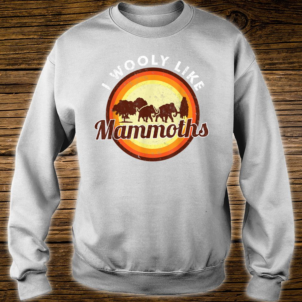 Wooly Mammoth Extinct Elephant Animal I Mammoth Shirt sweater