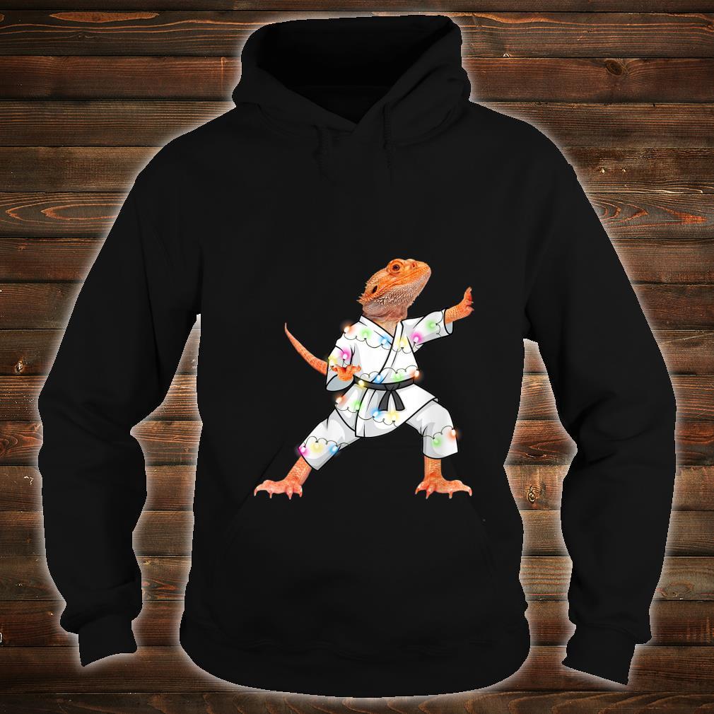 XMas Bearded dragons Christmas Lights Reptiles Pagona Shirt hoodie