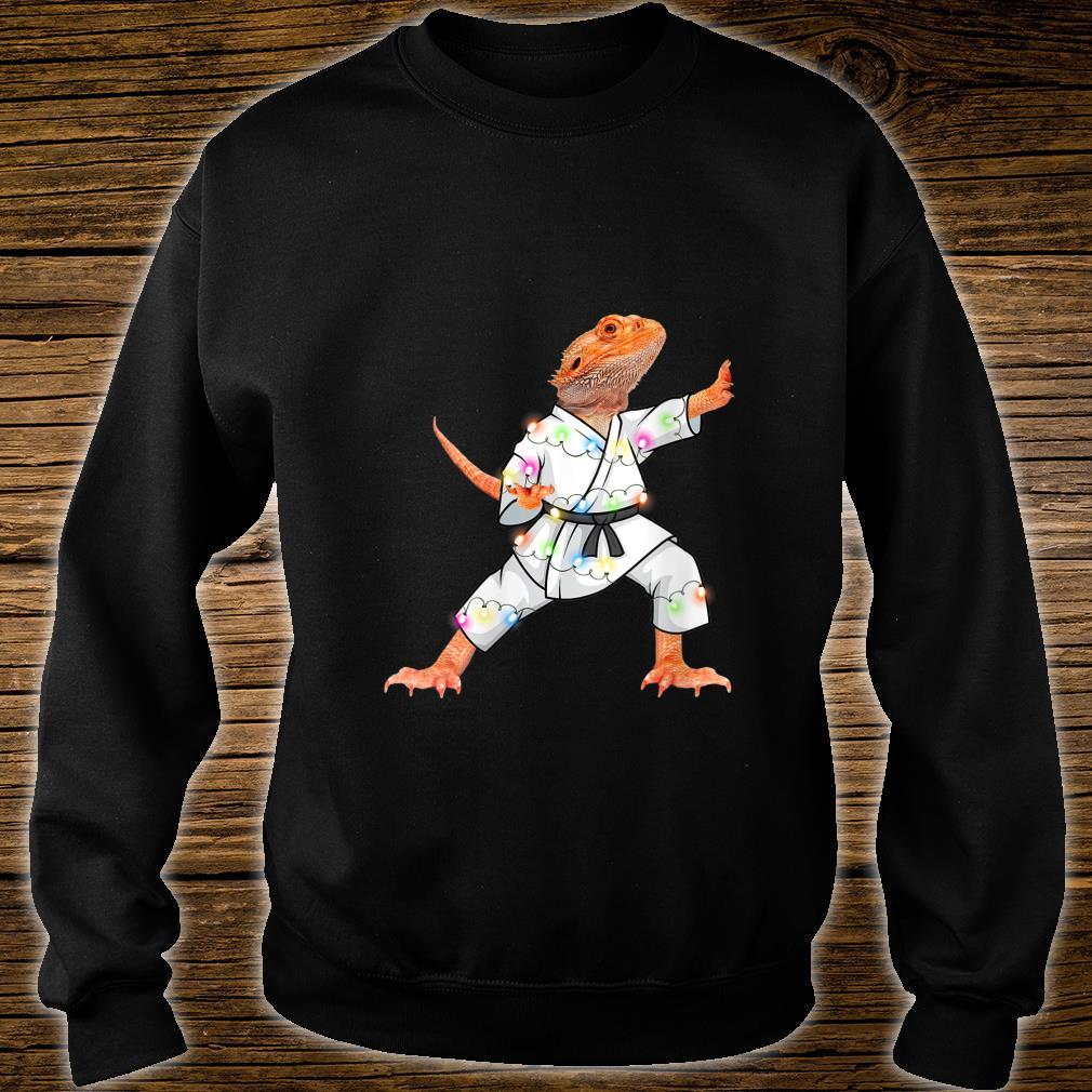 XMas Bearded dragons Christmas Lights Reptiles Pagona Shirt sweater