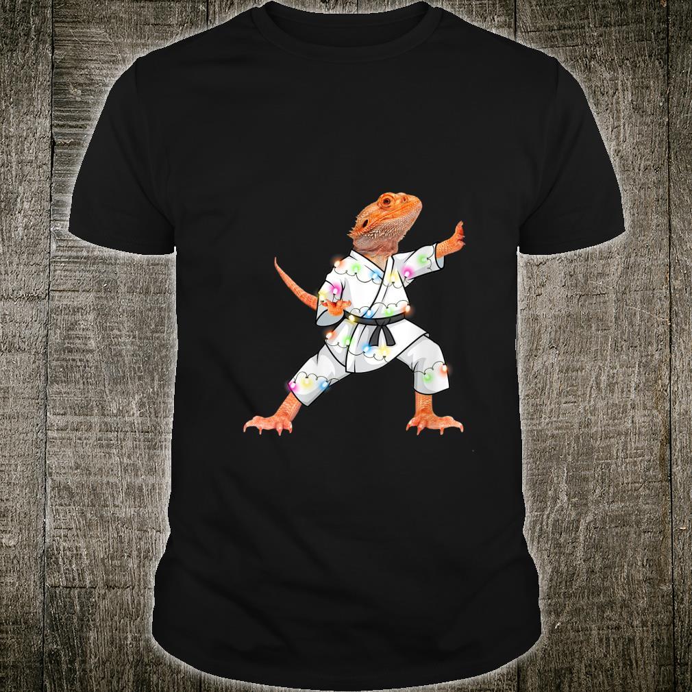 XMas Bearded dragons Christmas Lights Reptiles Pagona Shirt