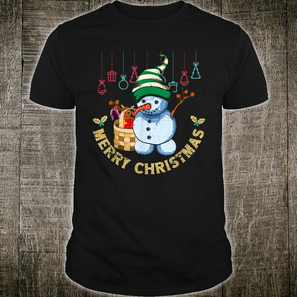 Xmas Family Pajama Merry Christmas Snowman Shirt