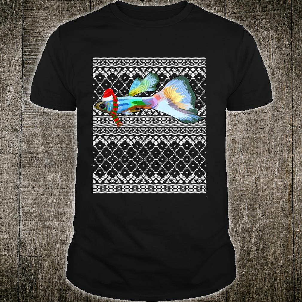 Xmas Fish Santa Hat Guppies Ugly Christmas Shirt