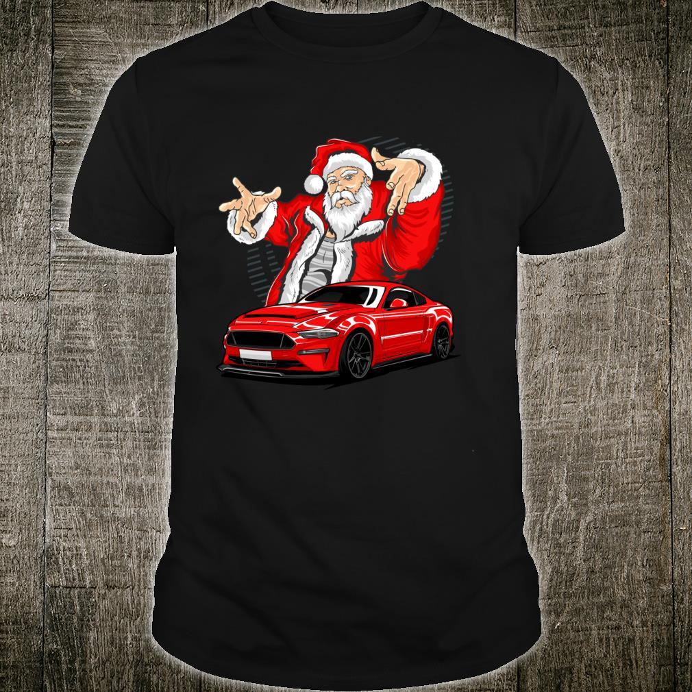 Xmas Santa Claus Christmas for Muscle Car Fans Shirt