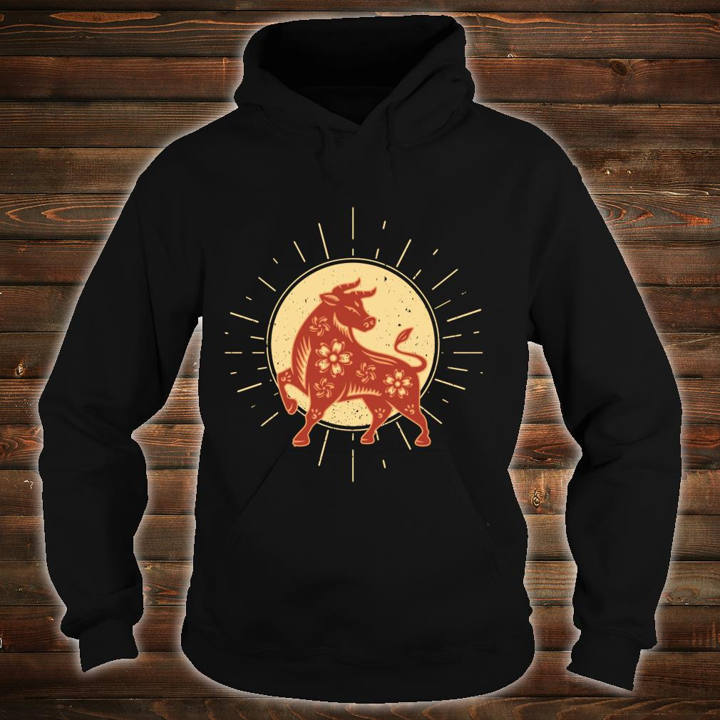 Year Of The OX 2021 Chinese Zodiac Happy New Year Red Ox Shirt hoodie