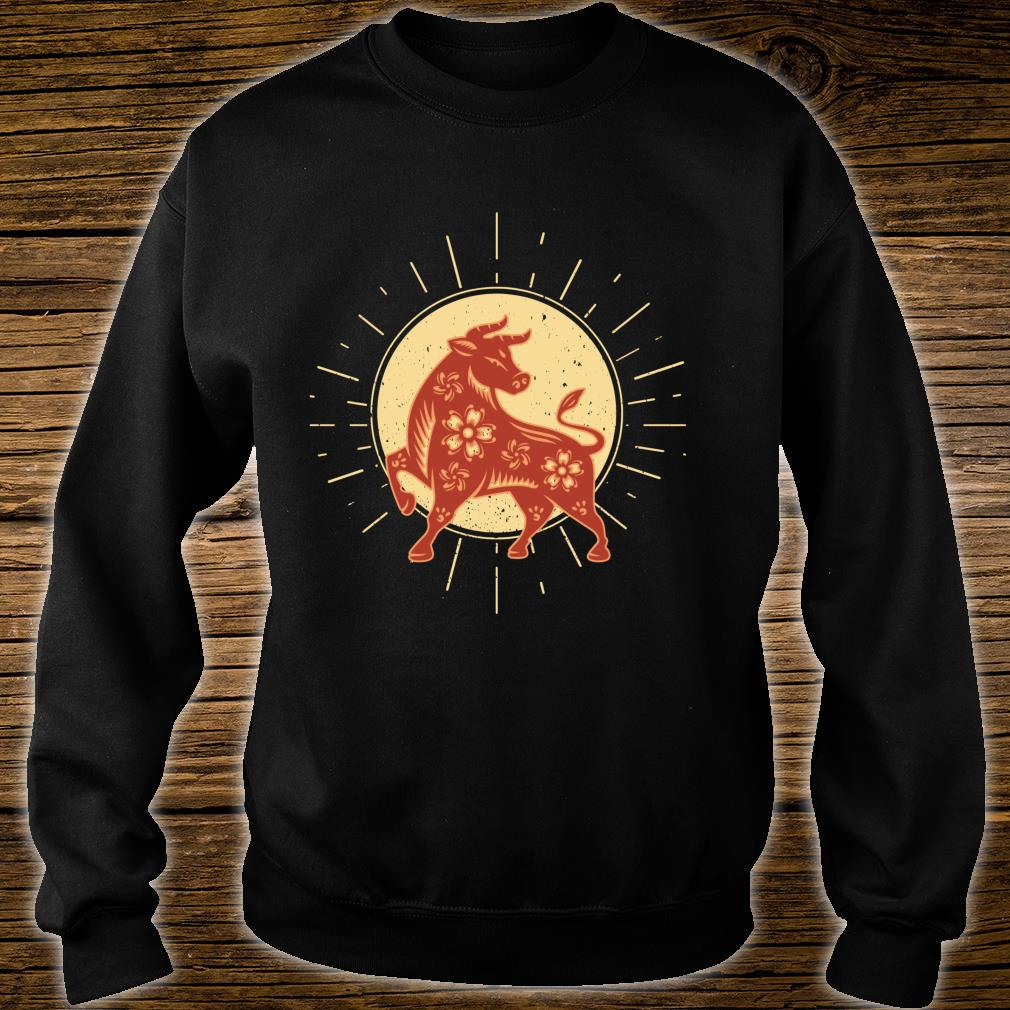 Year Of The OX 2021 Chinese Zodiac Happy New Year Red Ox Shirt sweater