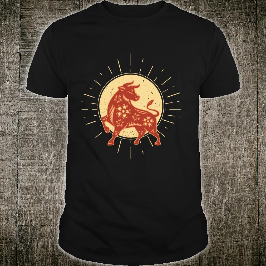 Year Of The OX 2021 Chinese Zodiac Happy New Year Red Ox Shirt