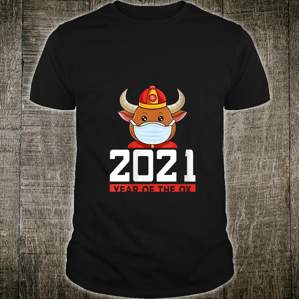 Year of the Ox Wearing Face Mask Chinese New Year 2021 Shirt