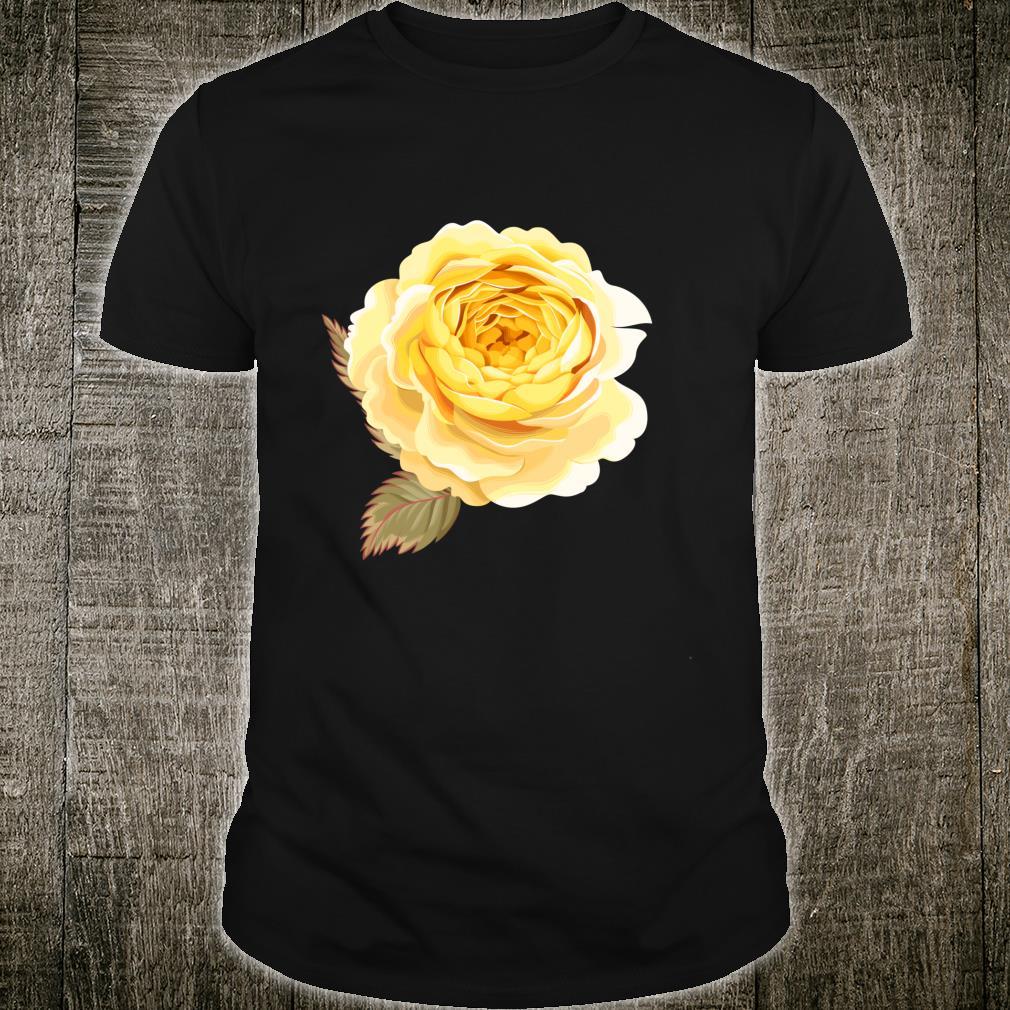 Yellow Rose Flower Drawing Shirt