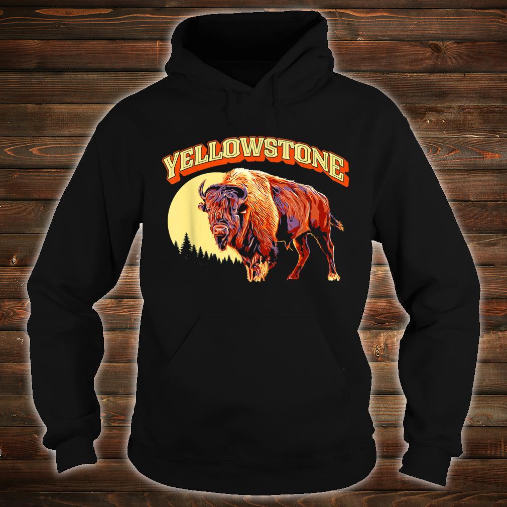 Yellowstone National Park Bison Vintage Illustration Shirt hoodie