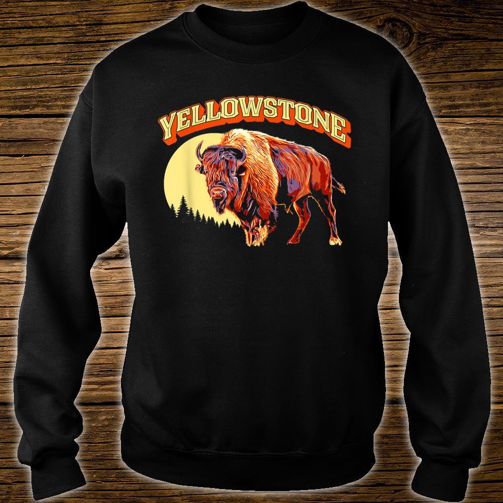 Yellowstone National Park Bison Vintage Illustration Shirt sweater