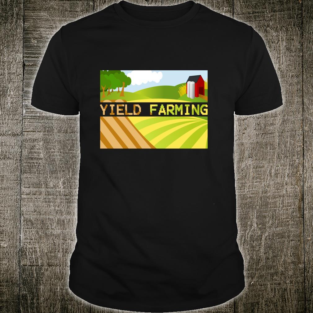 Yield Farming Cryptocurrency Farmer Crypto Farm Blockchain Shirt