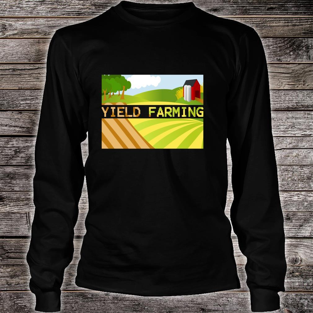 Yield Farming Cryptocurrency Farmer Crypto Farm Blockchain  Shirt long sleeved