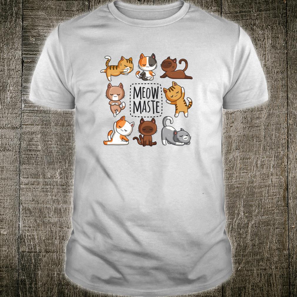 Yoga Katze Meowmaste Yoga Position Workout Geschenk Shirt