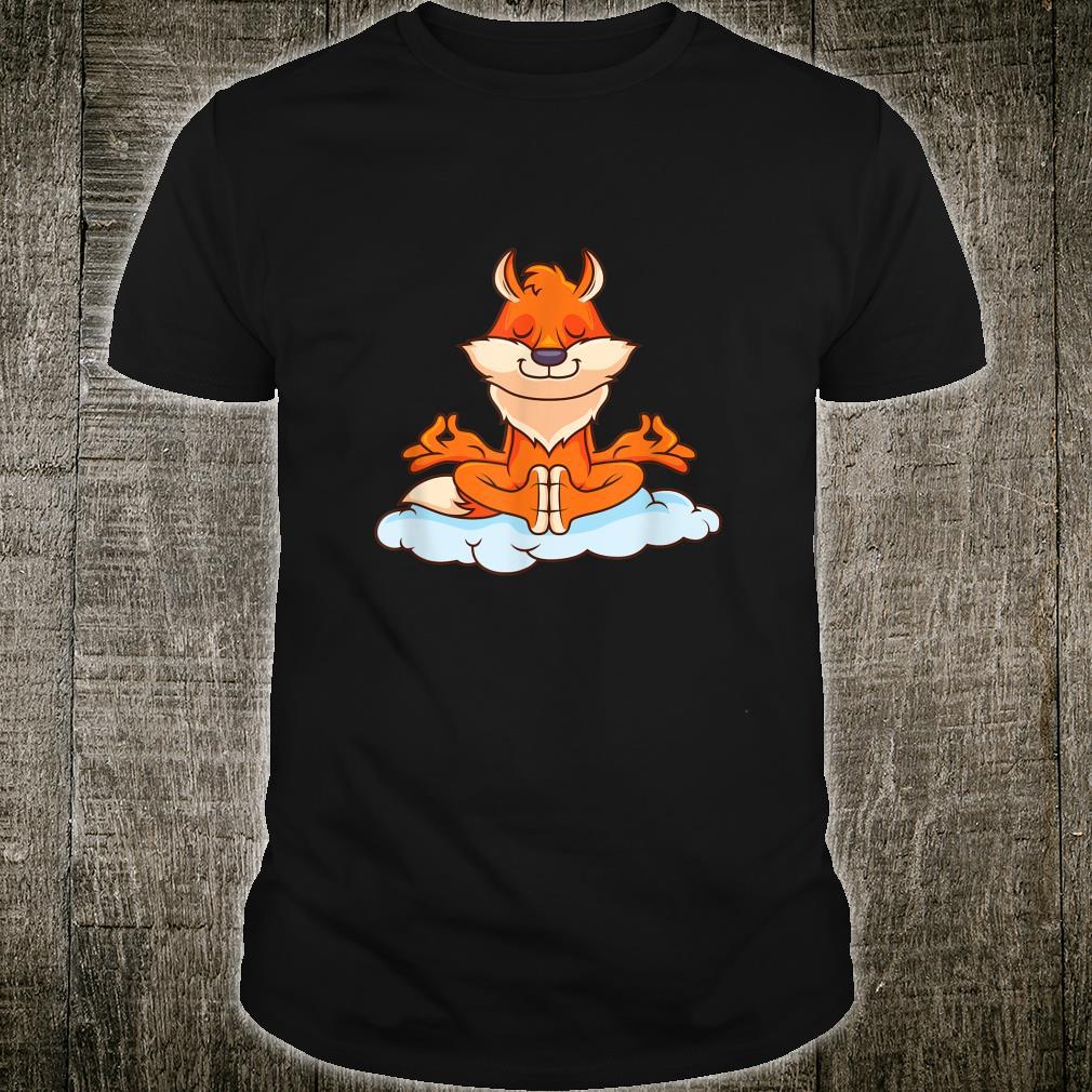 Yoga Meditation Fuchs Geschenke auf Wolke Witz Shirt