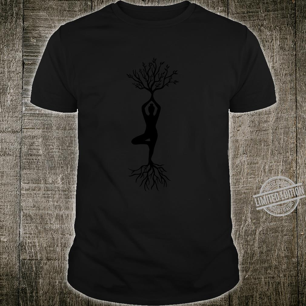Yoga Pose Tree Roots Spiritual Shirt