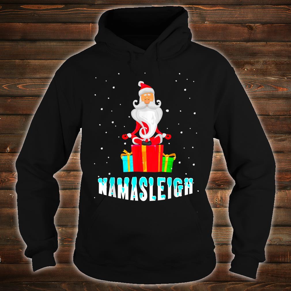 Yoga Santa Namasleigh Christmas Meditate Shirt hoodie