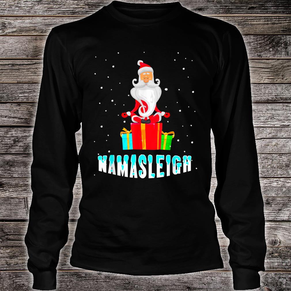Yoga Santa Namasleigh Christmas Meditate Shirt long sleeved