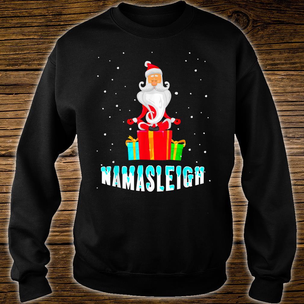 Yoga Santa Namasleigh Christmas Meditate Shirt sweater