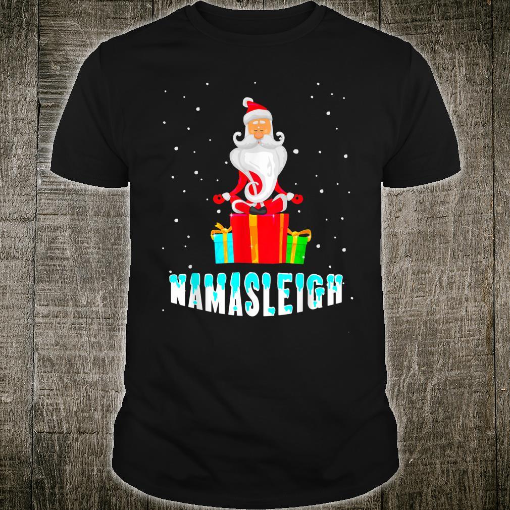 Yoga Santa Namasleigh Christmas Meditate Shirt
