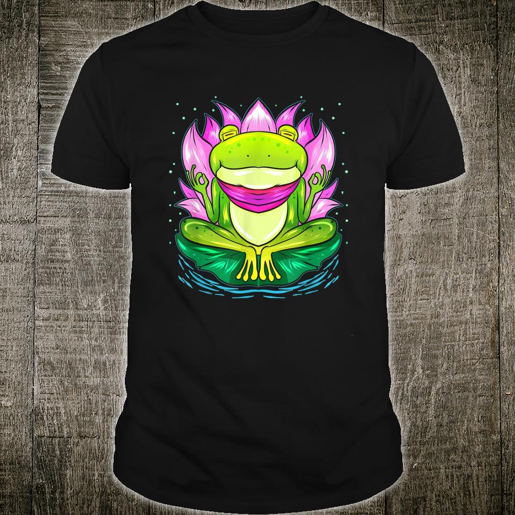 Yoga for Meditation Exercises Frog and Lotus Flower Shirt