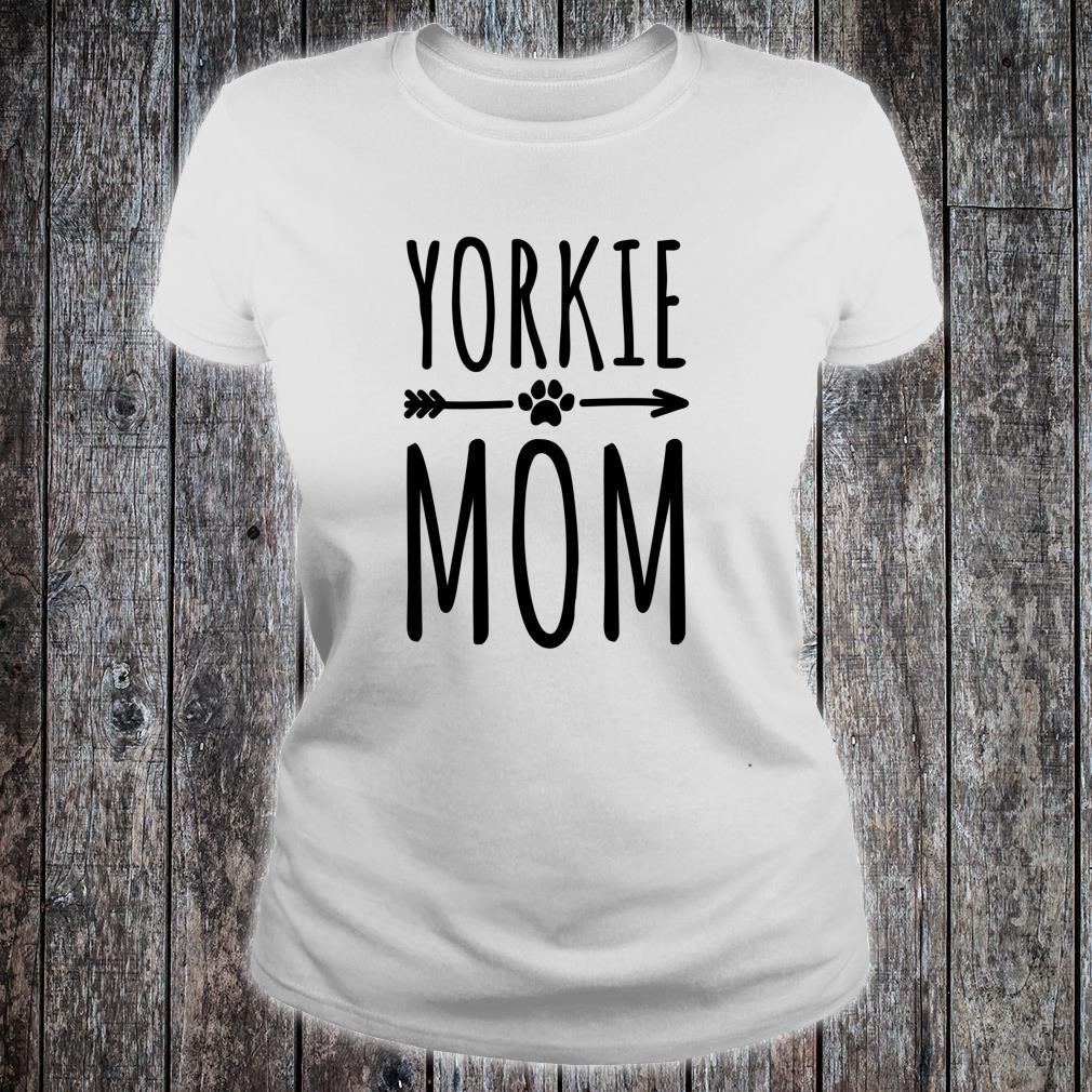 Yorkie Mom Frauen Mädchen Yorkshire Terrier Shirt ladies tee