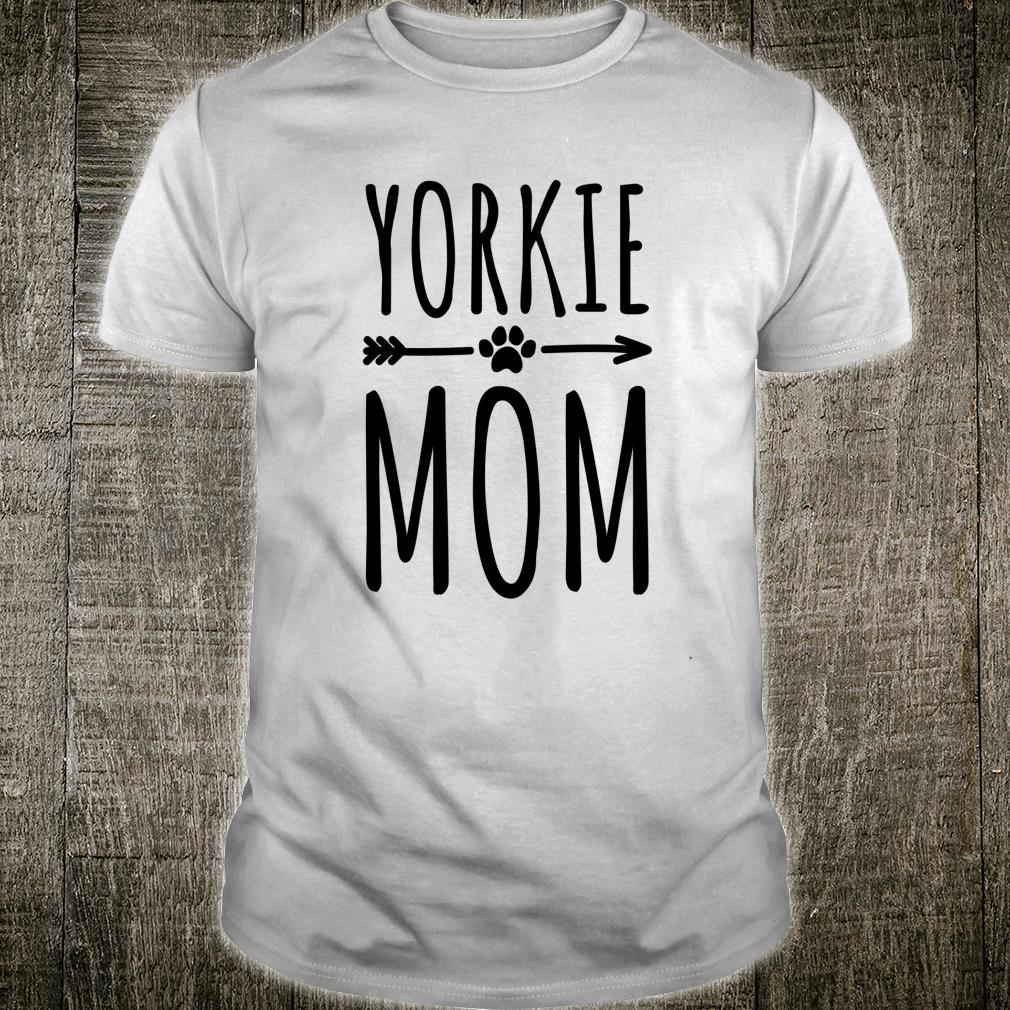 Yorkie Mom Frauen Mädchen Yorkshire Terrier Shirt