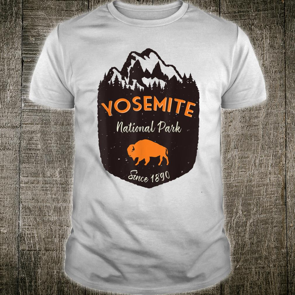 Yosemite National Park US Mountains Buffalo Vintage Outdoors Shirt
