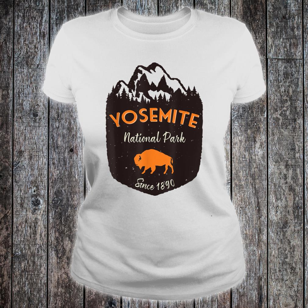 Yosemite National Park US Mountains Buffalo Vintage Outdoors Shirt ladies tee