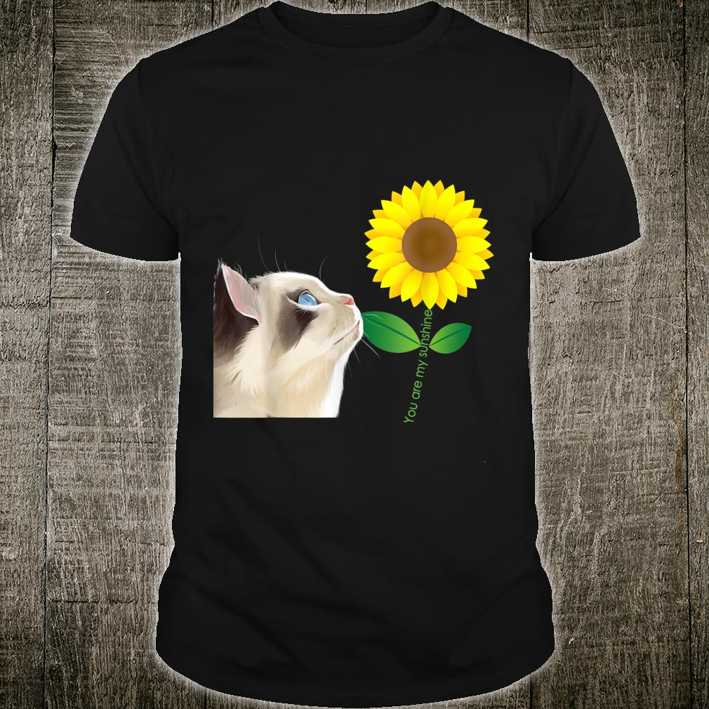 Your Are My Sunshine Cute Cat Design For Girls Shirt