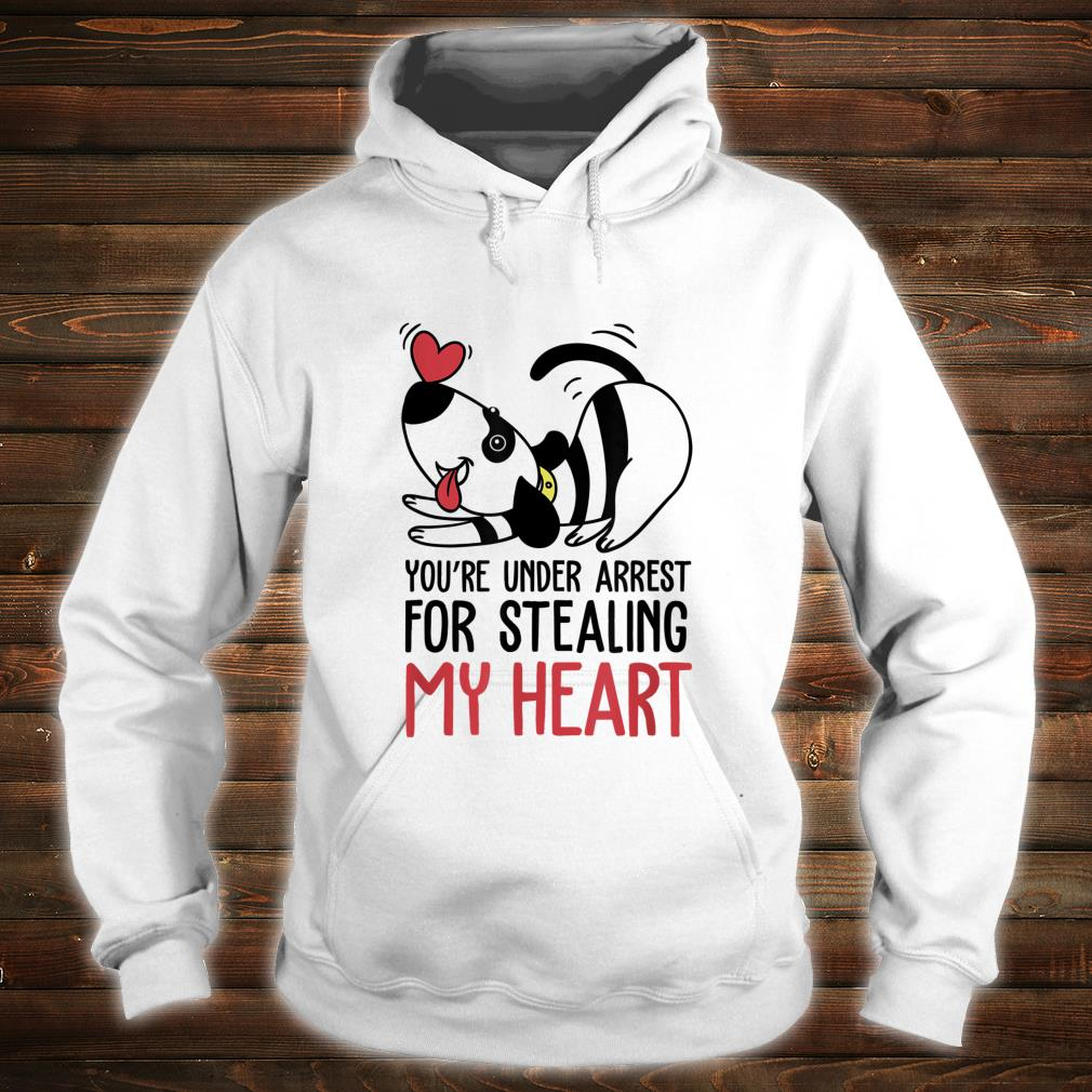 You're Under Arrest for Stealing My Heart Valentines Shirt hoodie