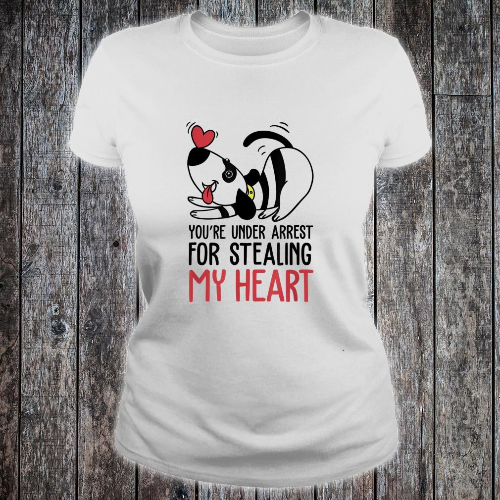 You're Under Arrest for Stealing My Heart Valentines Shirt ladies tee