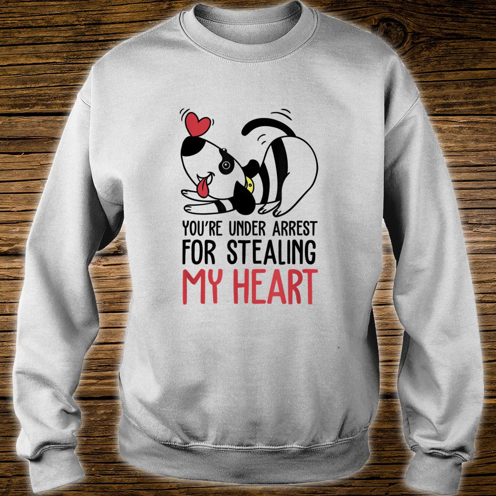 You're Under Arrest for Stealing My Heart Valentines Shirt sweater