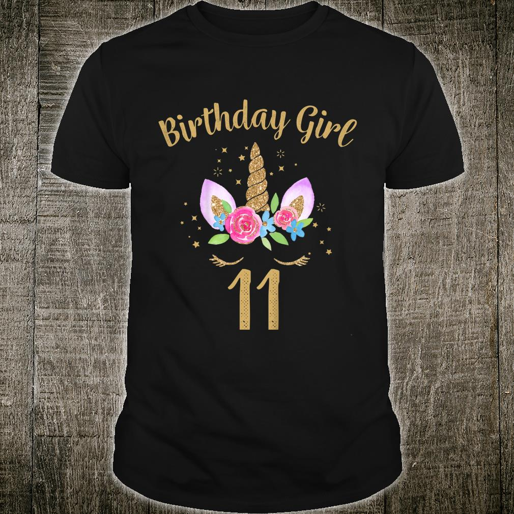 Youth 11 Year Old Birthday Girl Unicorn 11th Birthday Outfit Shirt