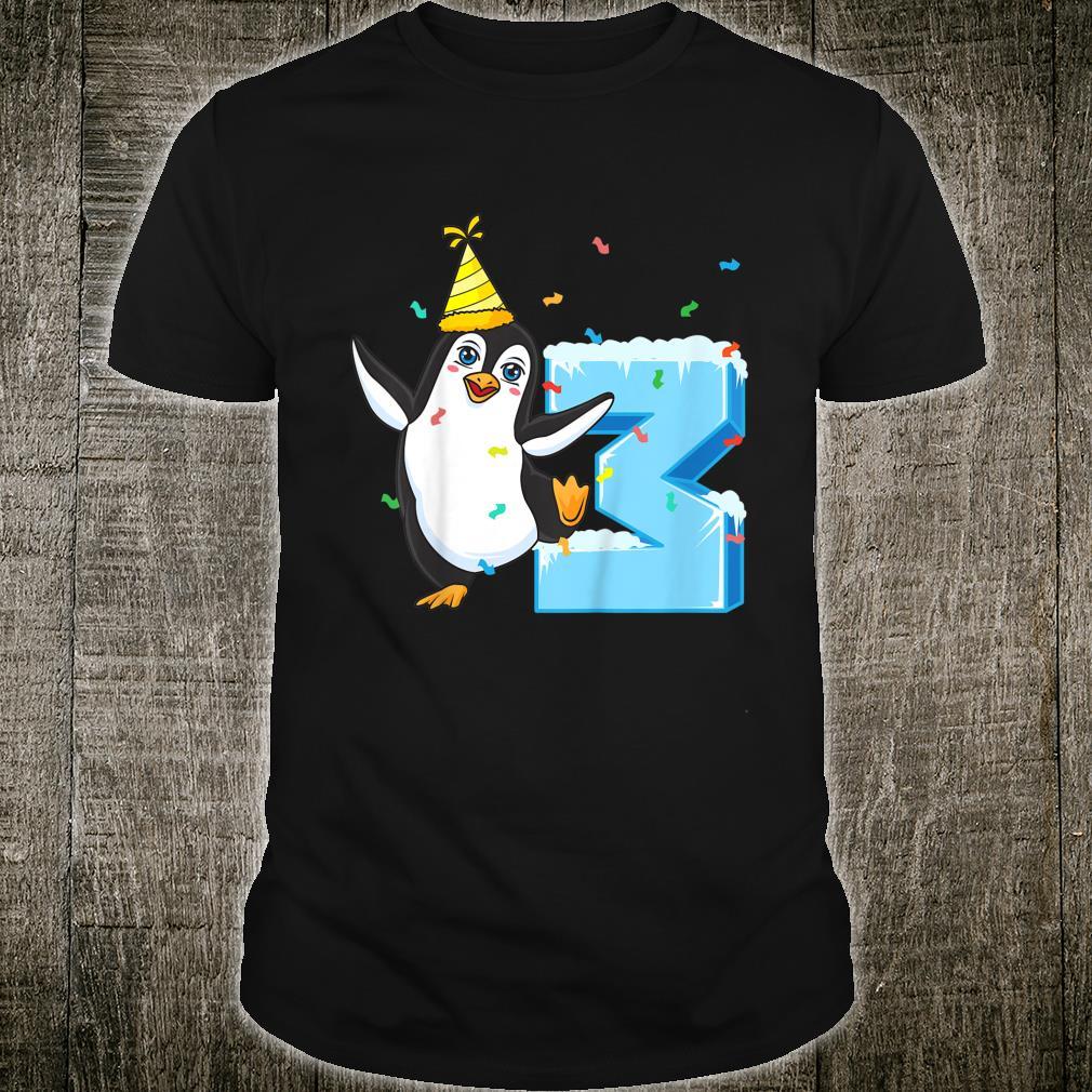 Youth 3rd Birthday Penguin Shirt