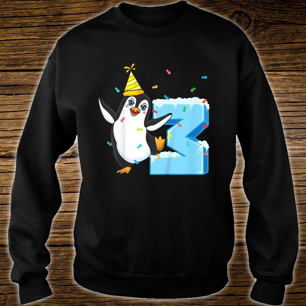 Youth 3rd Birthday Penguin Shirt sweater