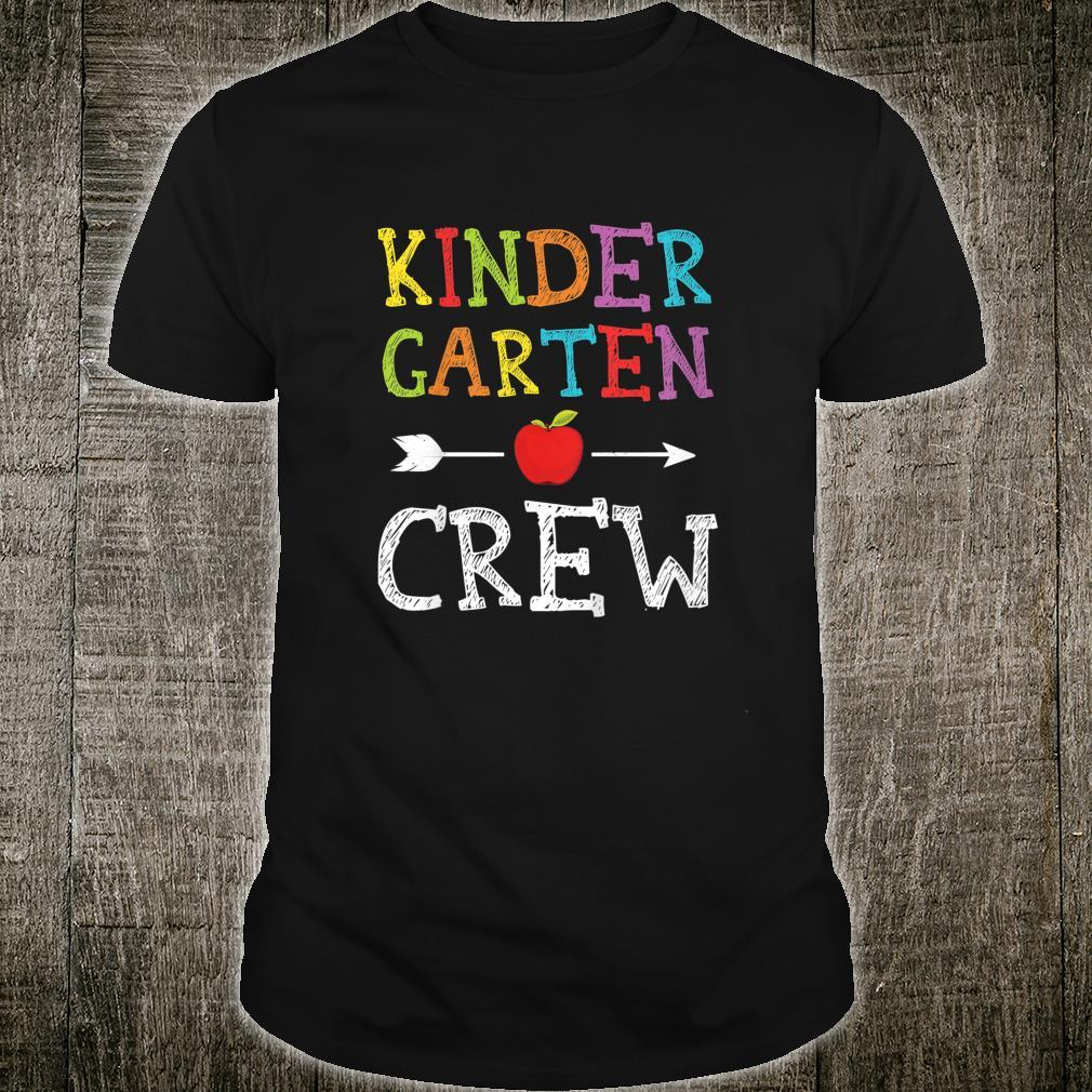 Youth Kindergarten Crew Shirt Boys Girls First Day Of School Shirt
