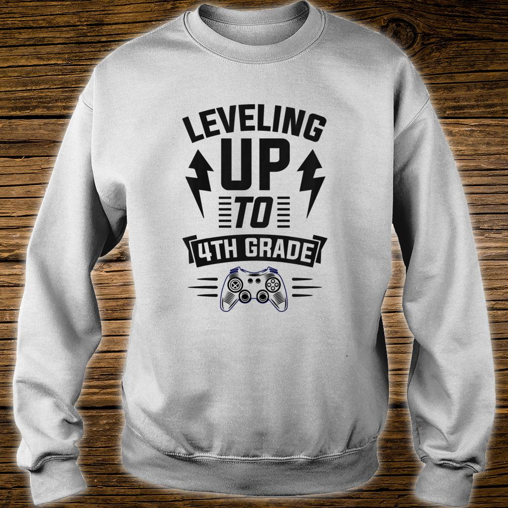 Youth Leveling Up To 4th Grade Fourth Cool Gamer Christmas Shirt sweater