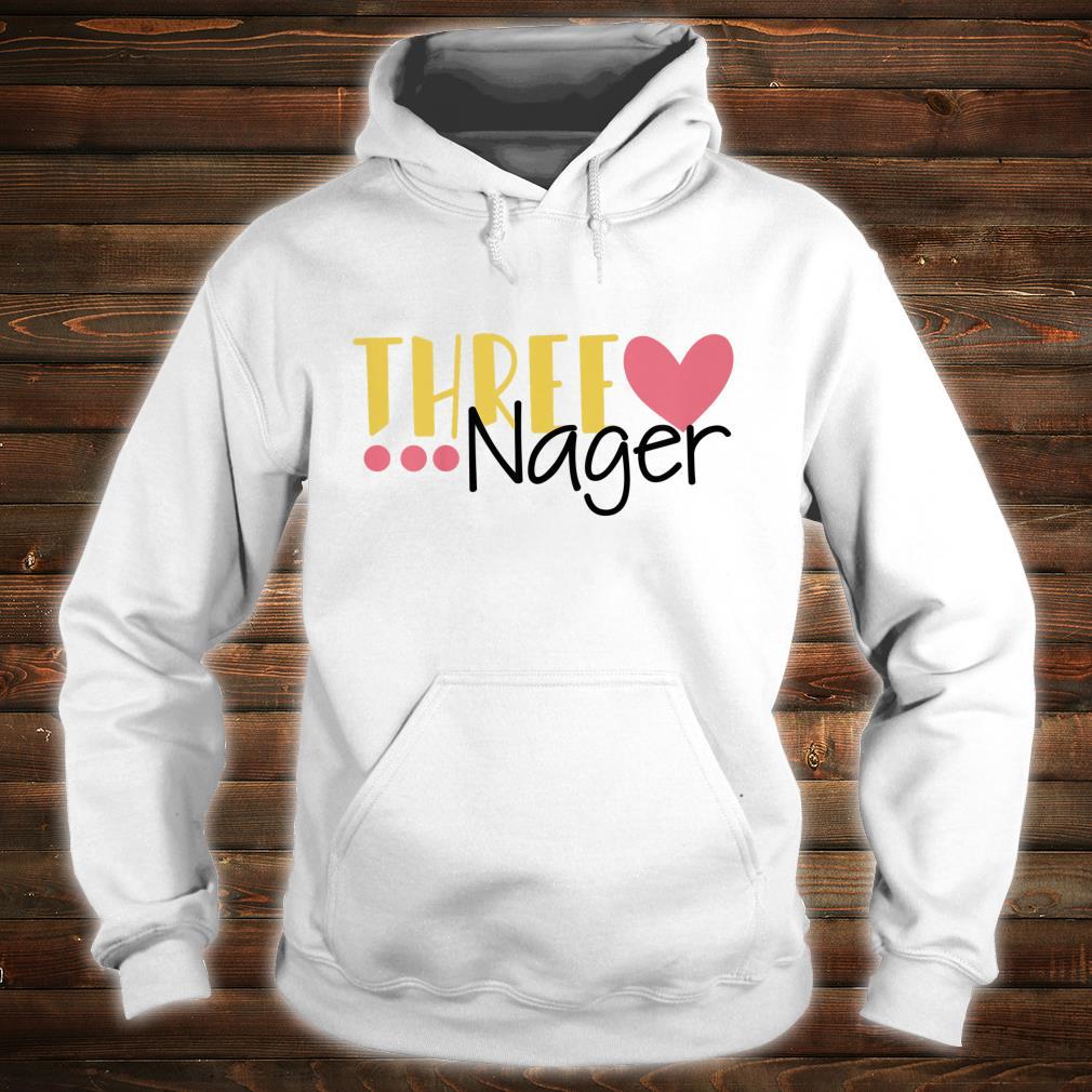 Youth Three Nager Threenager 3rd Birthday Boy Third Birthday Girl Shirt hoodie