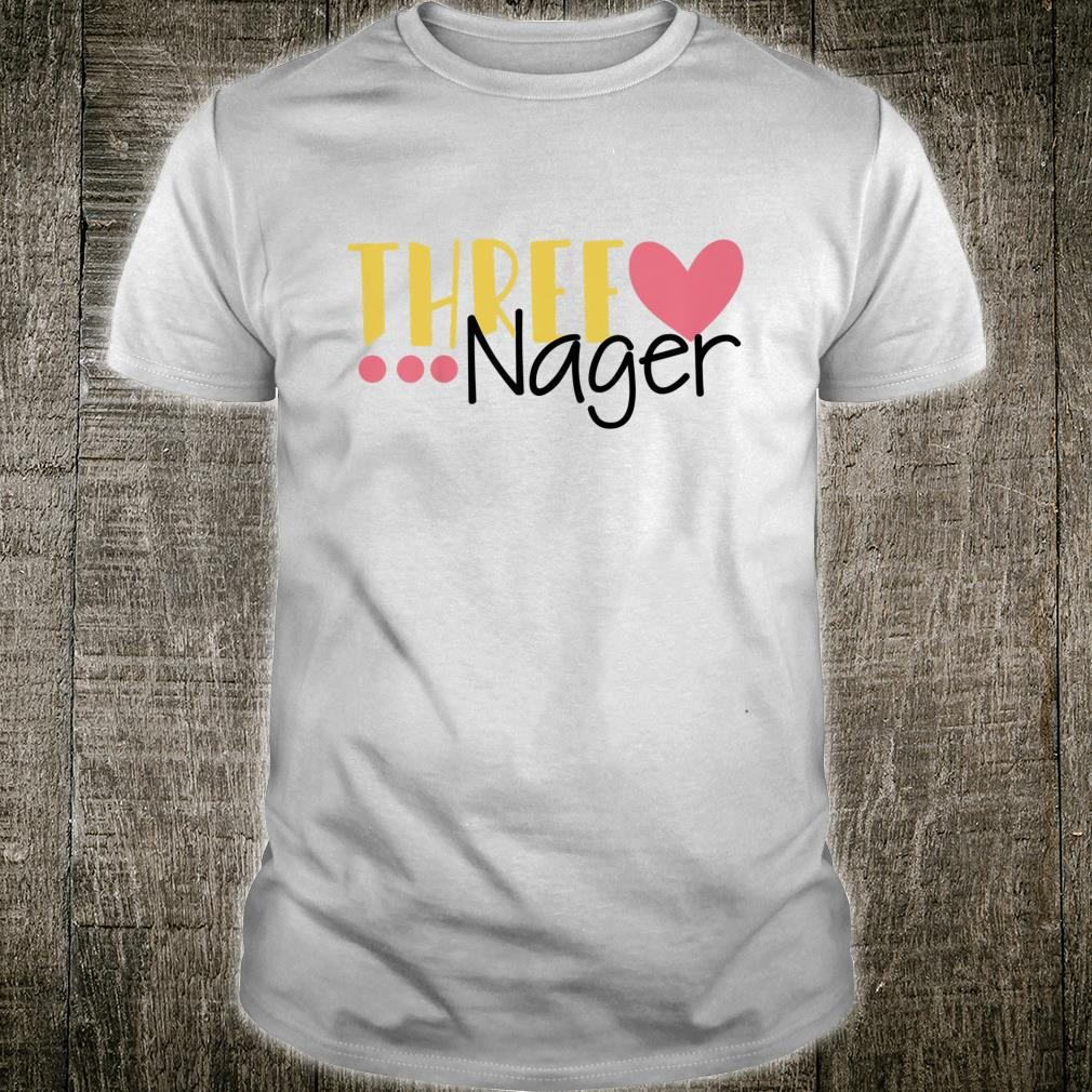 Youth Three Nager Threenager 3rd Birthday Boy Third Birthday Girl Shirt