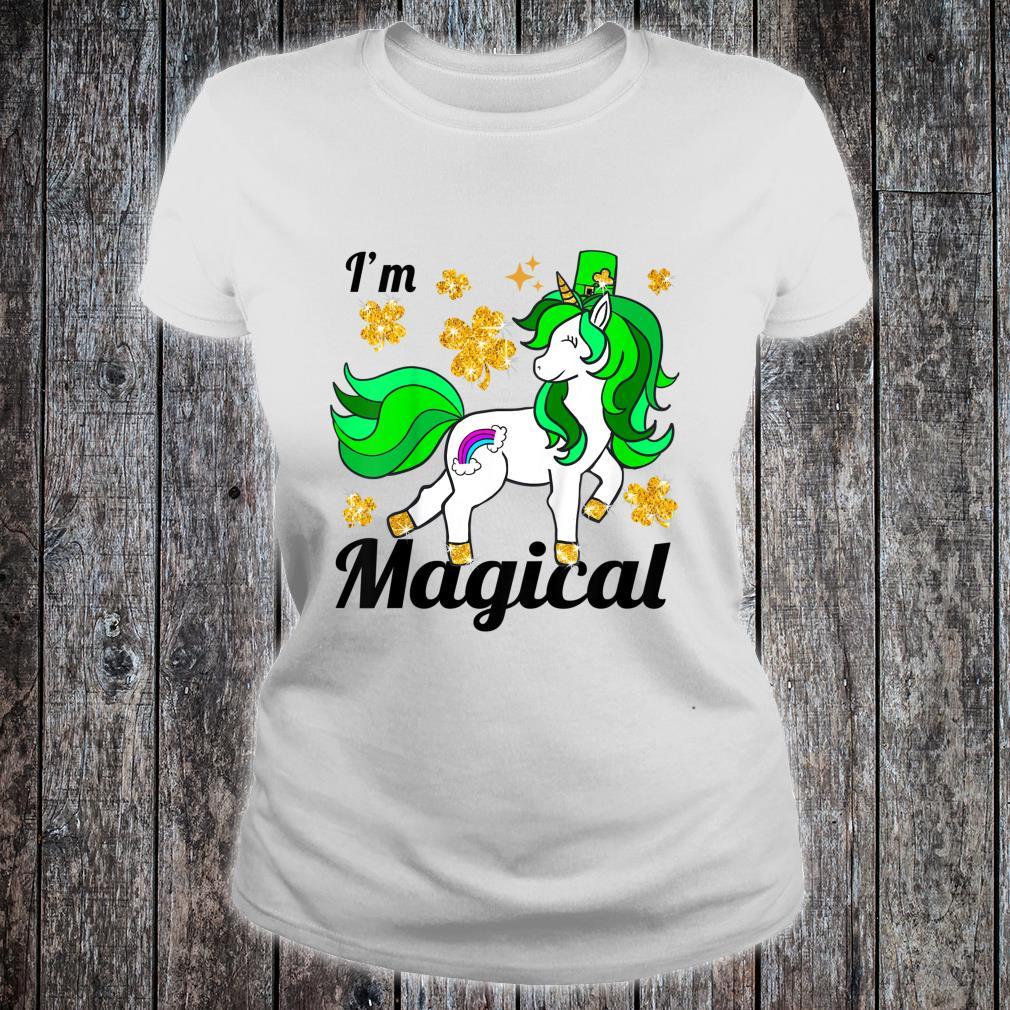 Youth Unicorn st patricks pattys day toddler girl shamrock Shirt ladies tee