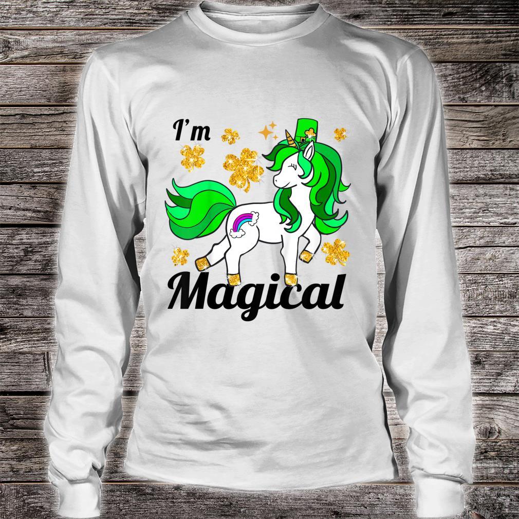 Youth Unicorn st patricks pattys day toddler girl shamrock Shirt long sleeved