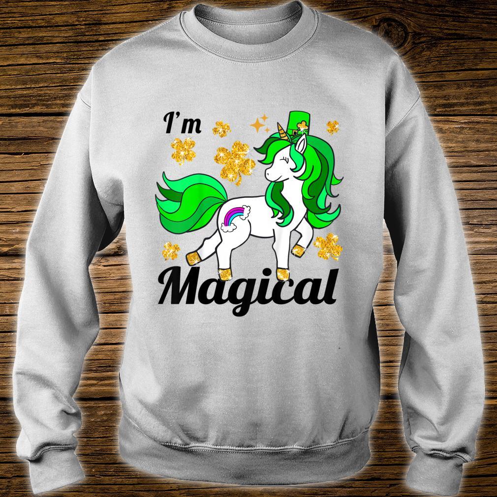 Youth Unicorn st patricks pattys day toddler girl shamrock Shirt sweater