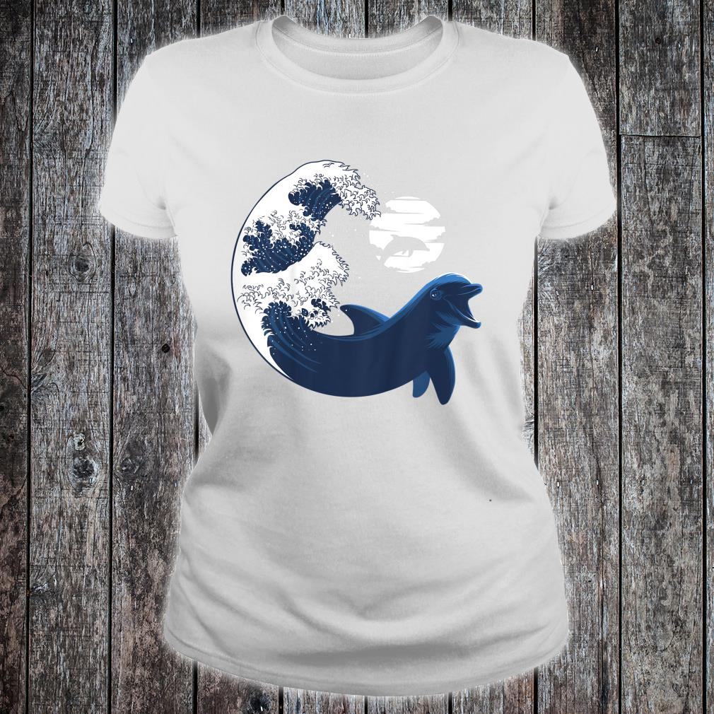 Youth Wave Dolphin nature animal cetacean Shirt ladies tee