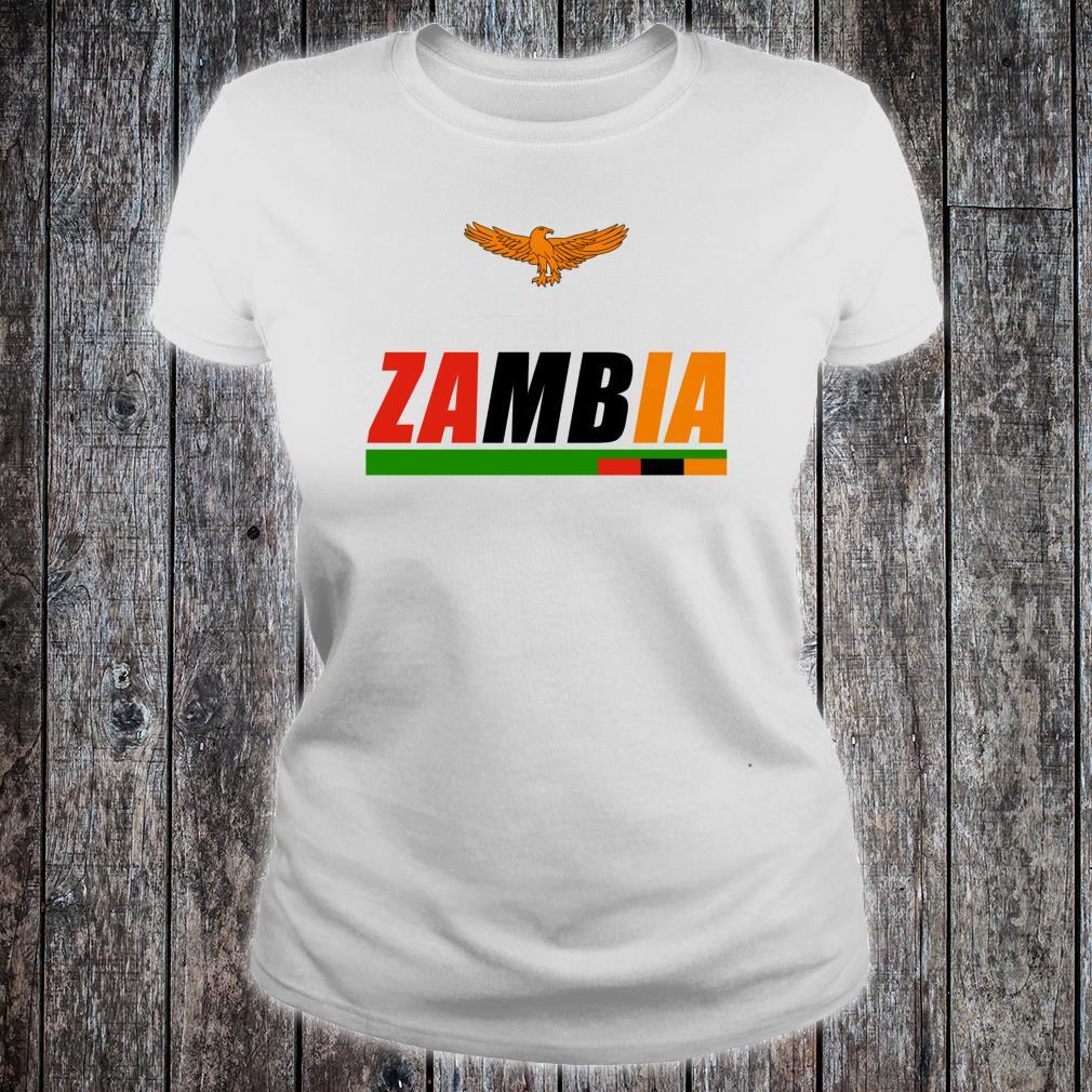 Zambian Flag Orange Eagle Souvenir Republic Of Zambia Shirt